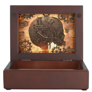 Awesome steampunk Skull Memory Box