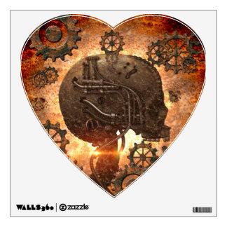 Awesome steampunk Skull Wall Sticker