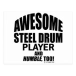Awesome Steel Drum Player Postcard
