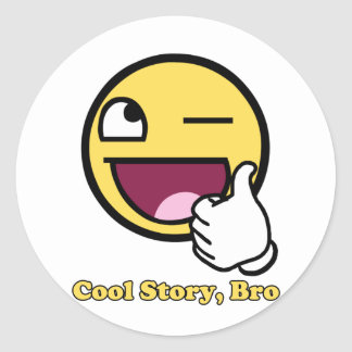 Awesome Story Classic Round Sticker