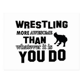 Awesome Sumo wrestle  Design Postcard
