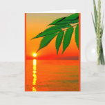 """Awesome Sun Birthday Card For Son<br><div class=""""desc"""">A branch full of green leaves, pointing directly at a golden ball of sun against an orange sky, is the subject of my &quot;You&#39;re An Awesome Sun - Just Thought I&#39;d Point That Out&quot; birthday card for a son. I photographed this scene along the shoreline of beautiful Lake Winnebago in...</div>"""