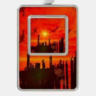 Awesome sunset christmas ornament