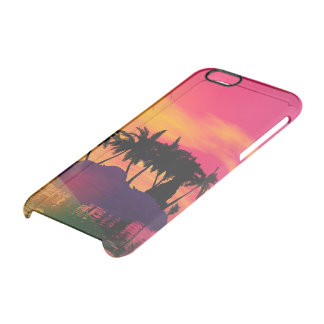 Awesome sunset in pink and gold clear iPhone 6/6S case