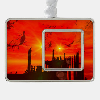 Awesome sunset ornament
