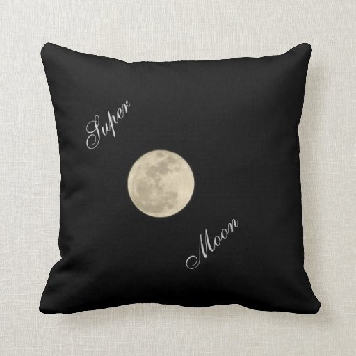 Awesome Super Moon Pillow