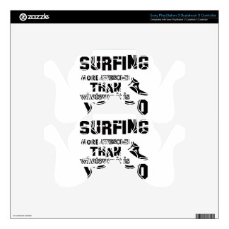 Awesome Surfing Design Decal For PS3 Controller