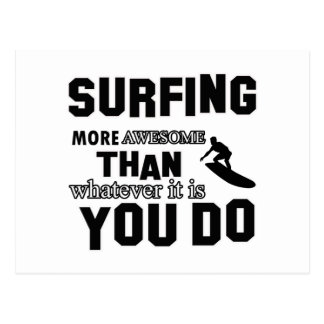 Awesome Surfing Design Postcard
