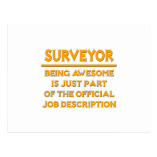 Awesome Surveyor .. Official Job Description Postcard