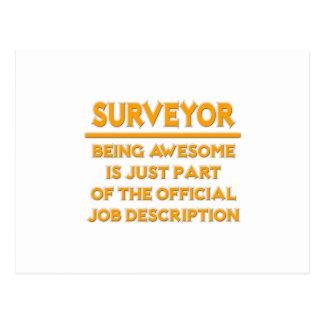 Awesome Surveyor .. Official Job Description Postcard