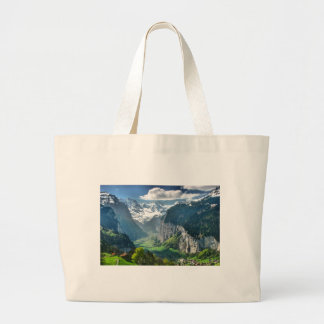 Awesome Switzerland Alps Large Tote Bag