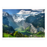 Awesome Switzerland Alps Post Card