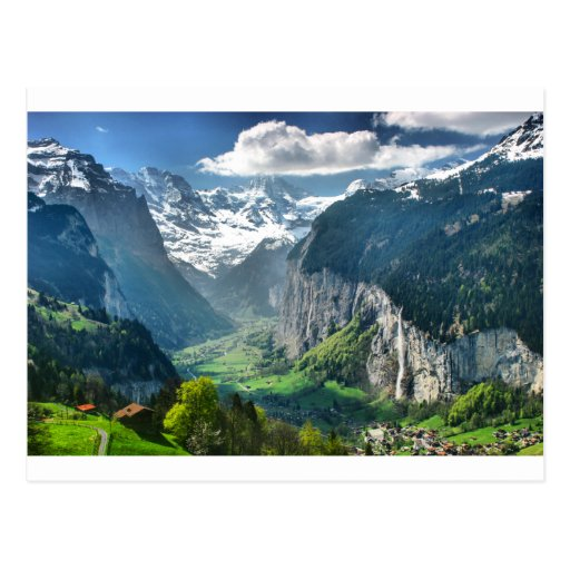 Awesome Switzerland Alps Postcard