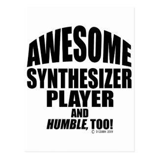 Awesome Synthesizer Player Postcard