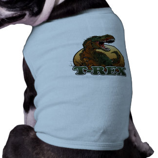 awesome t-rex brown and green illustration shirt