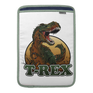 awesome t-rex brown and green illustration sleeve for MacBook air