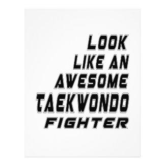 Awesome Taekwondo. Fighter Letterhead