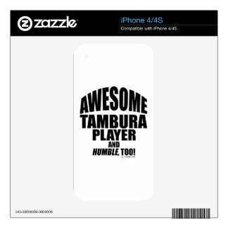 Awesome Tambura Player iPhone 4 Decals