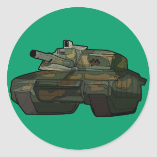 Awesome Tank Classic Round Sticker