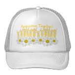 Awesome Teacher Thank You Cap With Kids and Daisie Trucker Hat