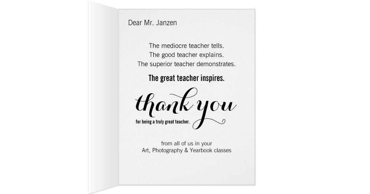 how to write a thank you card to a teacher