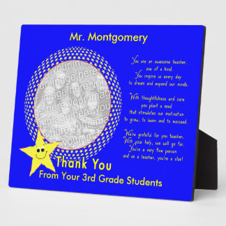 Awesome Teacher Thank You Photo Plaque