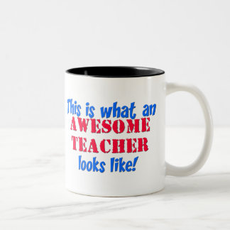 Awesome Teacher Two-Tone Coffee Mug