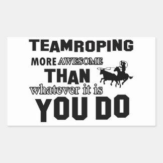 Awesome Team roping Design Rectangular Sticker