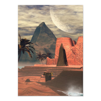 Awesome temple in the sunset 5x7 paper invitation card
