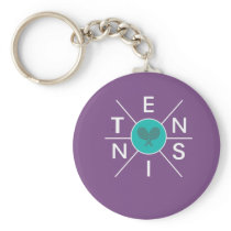 Awesome Tennis hex cross Gift for Men & Women Keychain