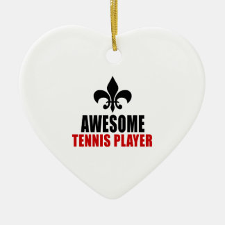 AWESOME TENNIS PLAYER CERAMIC ORNAMENT