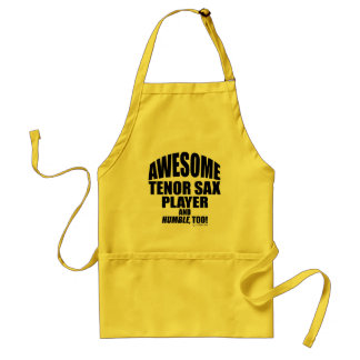 Awesome Tenor Sax Player Adult Apron