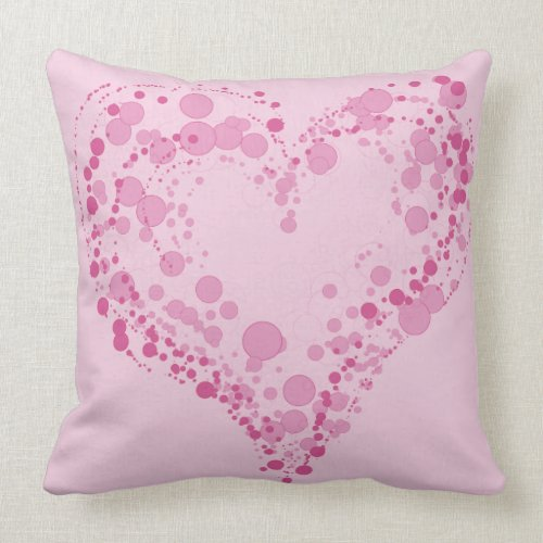 Awesome Throw Pillow In Heart Design