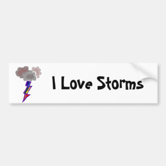 Awesome Thunderstorm Clouds and Lightning Art Bumper Sticker