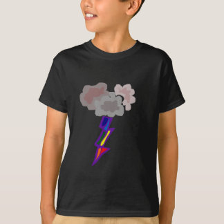 Awesome Thunderstorm Clouds and Lightning Art T-Shirt