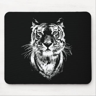 Awesome tiger cat portrait. Wildlife Mouse Pad