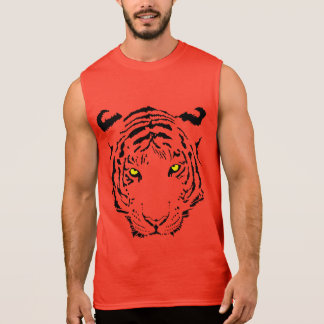 Awesome Tiger Face Sleeveless T-shirt