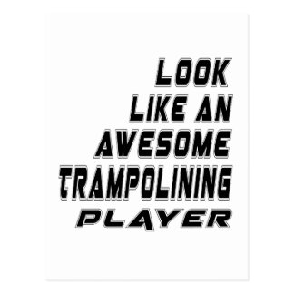 Awesome Trampolining Player Postcard