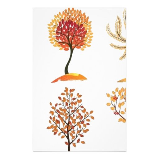 Awesome tree design stationery design