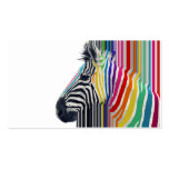 awesome trendy colourful vibrant stripes zebra business card template
