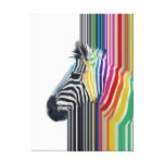 awesome trendy colourful vibrant stripes zebra canvas print