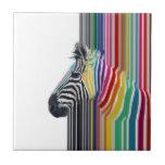 awesome trendy colourful vibrant stripes zebra ceramic tile