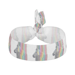 awesome trendy colourful vibrant stripes zebra elastic hair tie
