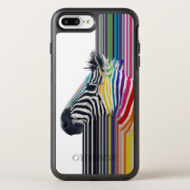 awesome trendy colourful vibrant stripes zebra OtterBox symmetry iPhone 7 plus case