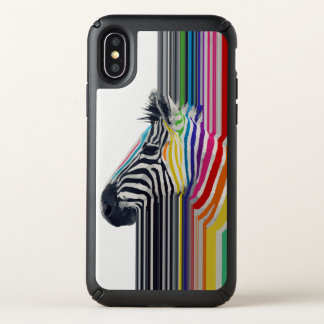 awesome trendy colourful vibrant stripes zebra speck iPhone x case