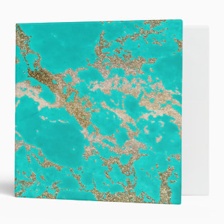 Awesome trendy modern faux gold glitter marble 3 ring binder