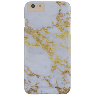 Awesome trendy modern faux gold glitter marble barely there iPhone 6 plus case