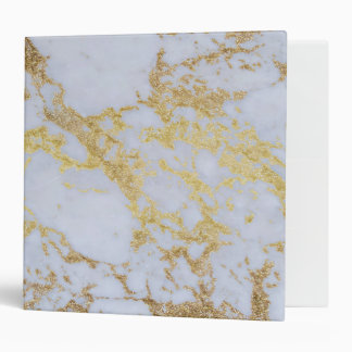 Awesome trendy modern faux gold glitter marble binder