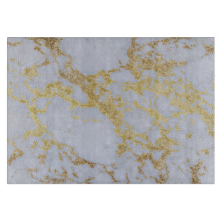 Awesome trendy modern faux gold glitter marble cutting board