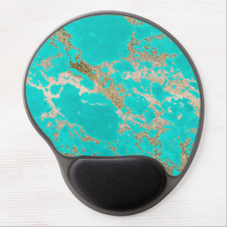 Awesome trendy modern faux gold glitter marble gel mouse pad